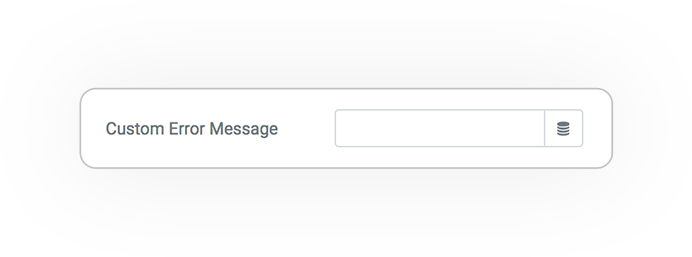Pro Form ACTIONS Save customdb ERROR MESSAGE