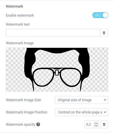 elementor pdf watermark