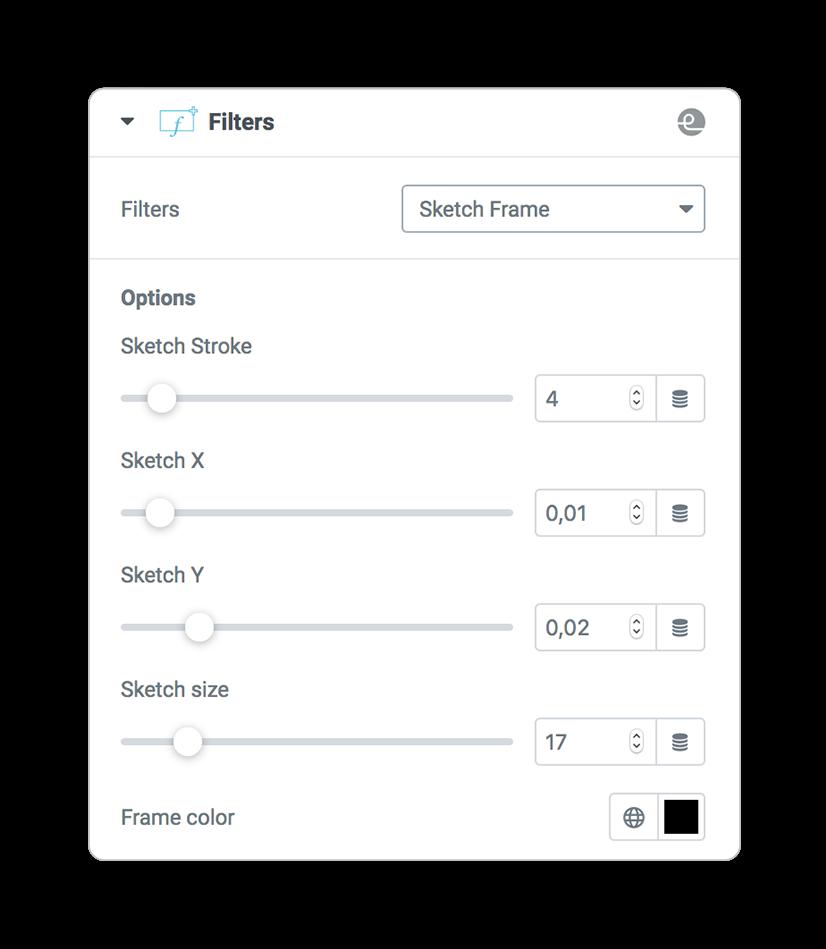 filters sketchFrame