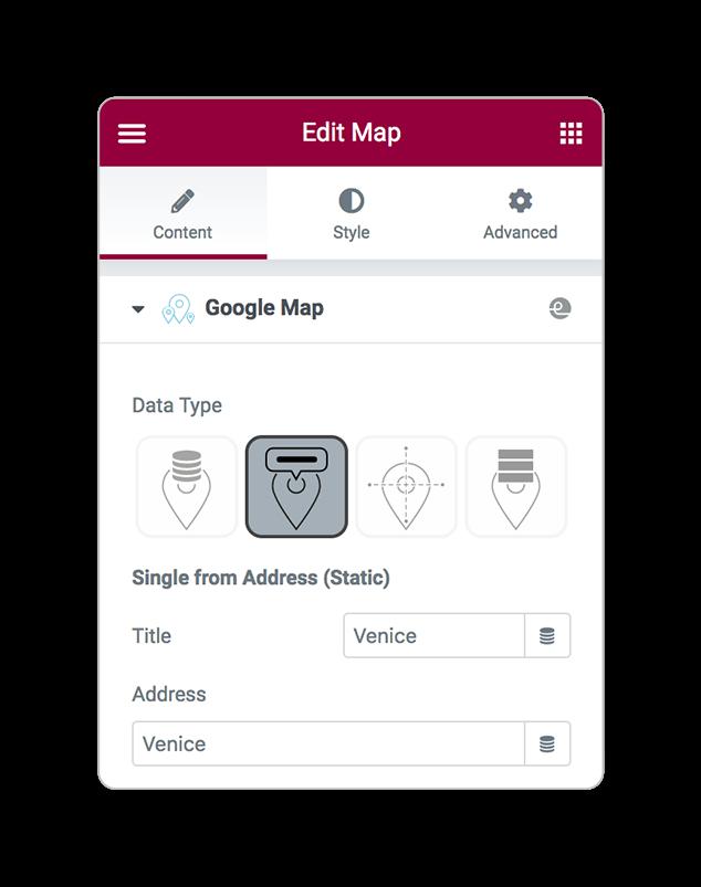 mapsLocator dataType address
