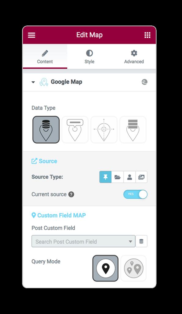 mapsLocator dataType custom field