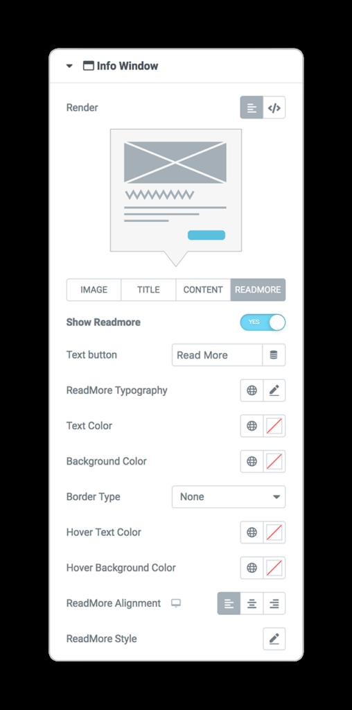 mapsLocator infoWindow query readmore