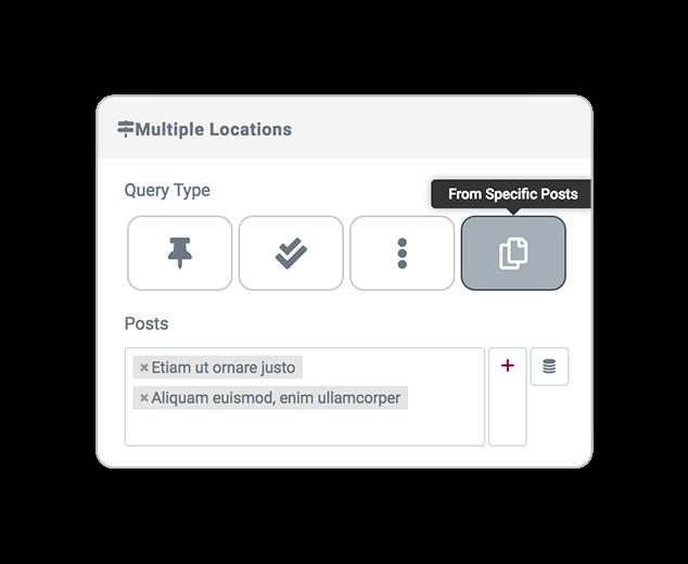mapsLocator query SpecificPosts