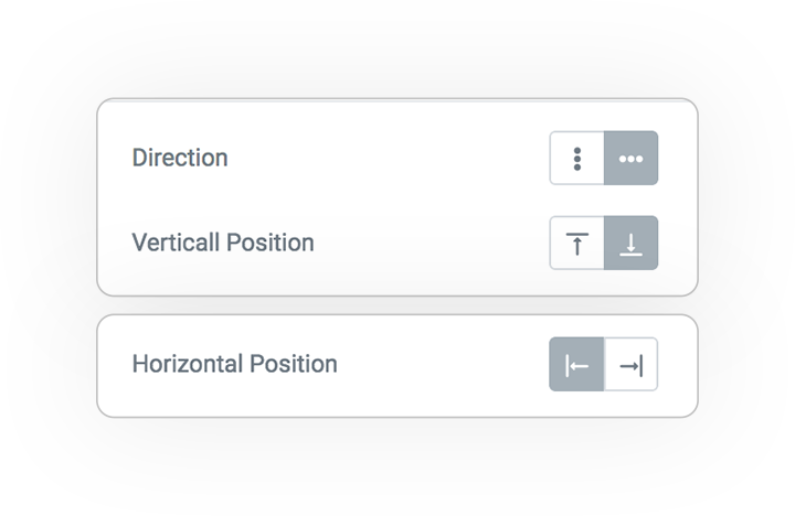 scroll indicator direction horizontal