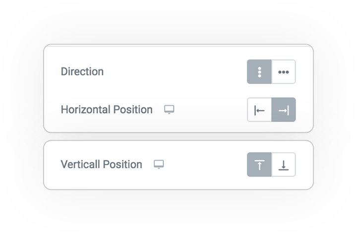 scroll indicator direction vertical