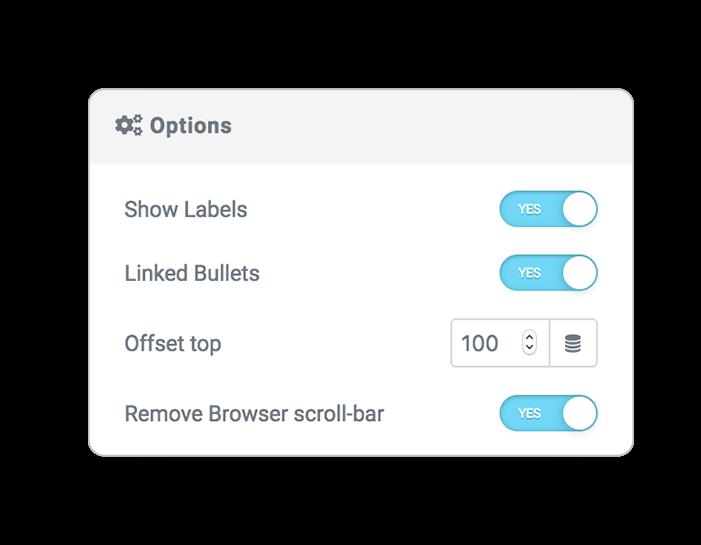 scroll indicator options