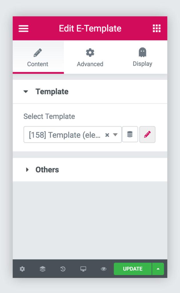 template widget 1 1