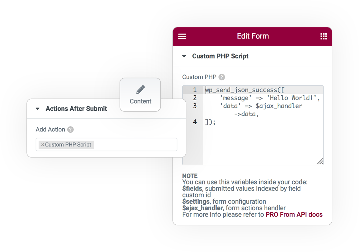 custom php script