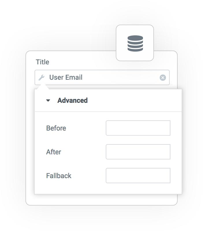 user email