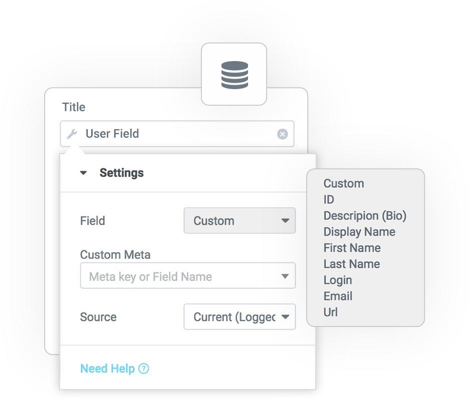 user field