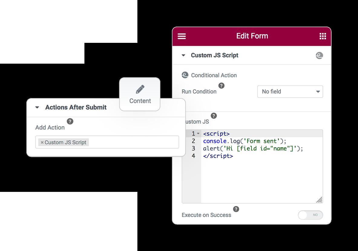 Pro Form ACTIONS JSscript