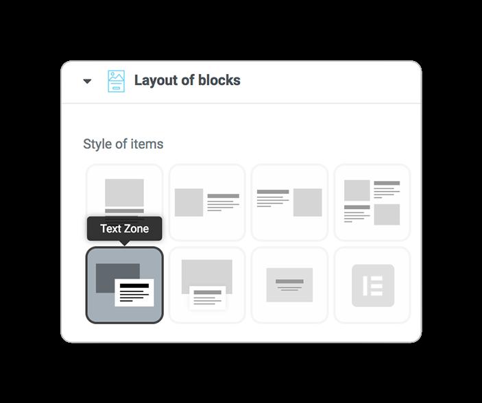 layoutsofblocks TEXTZONE