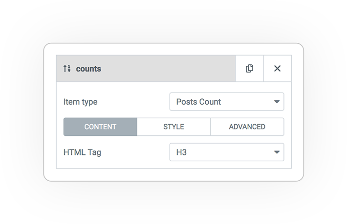Query ITEMS counts