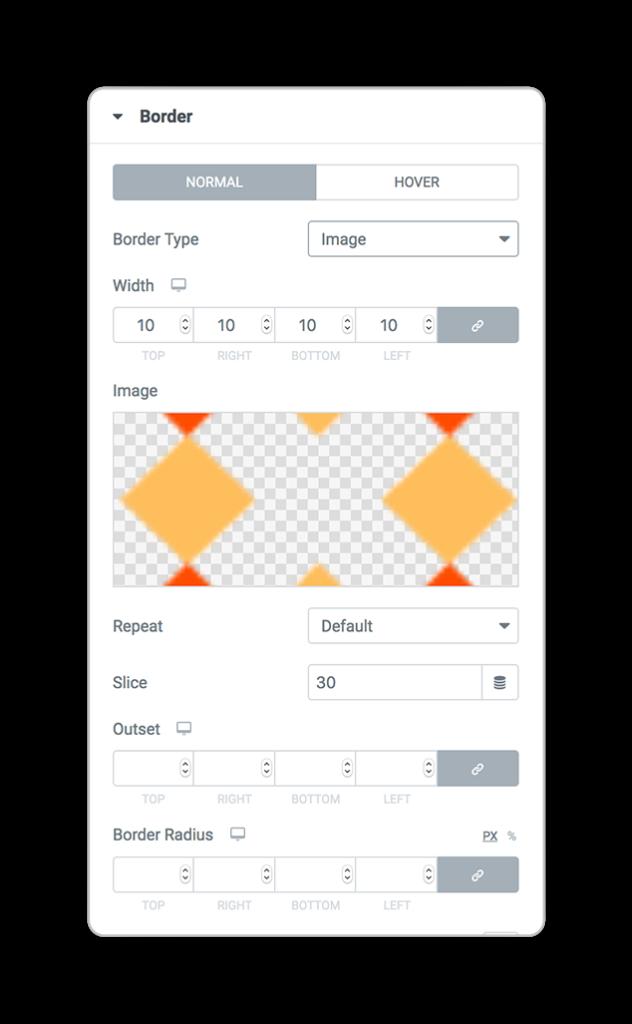 elementor border image styles