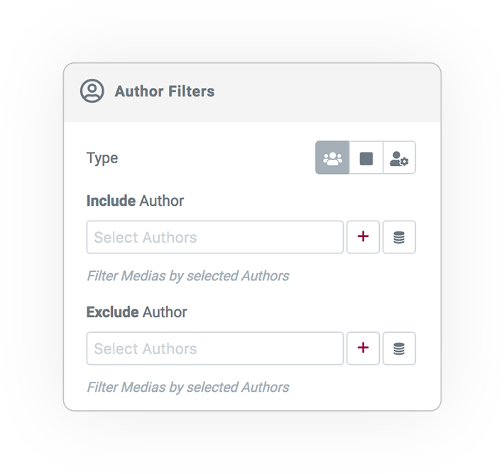 media query filter AUTHOR