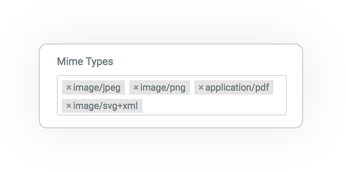 media query filter MIME TYPE