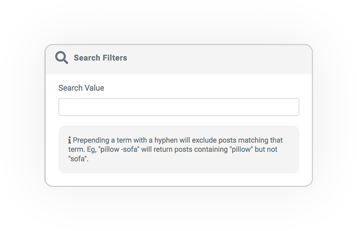 media query filter SEARCH