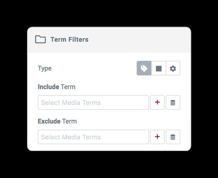 media query filter TERM
