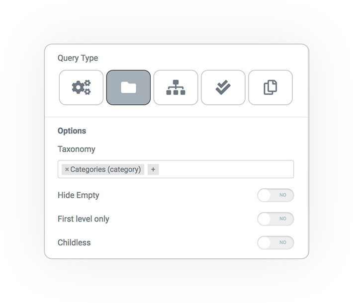 query type from taonomy terms