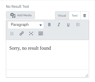 form action query posts filter no result