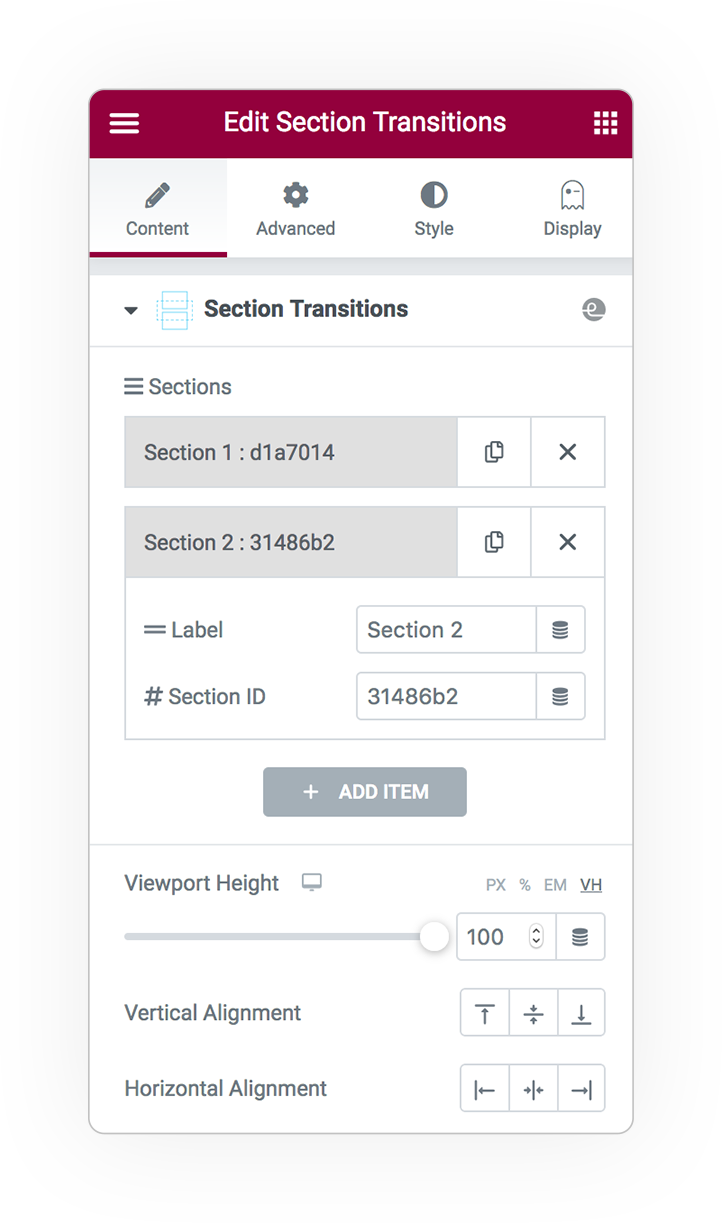 section transitions 1
