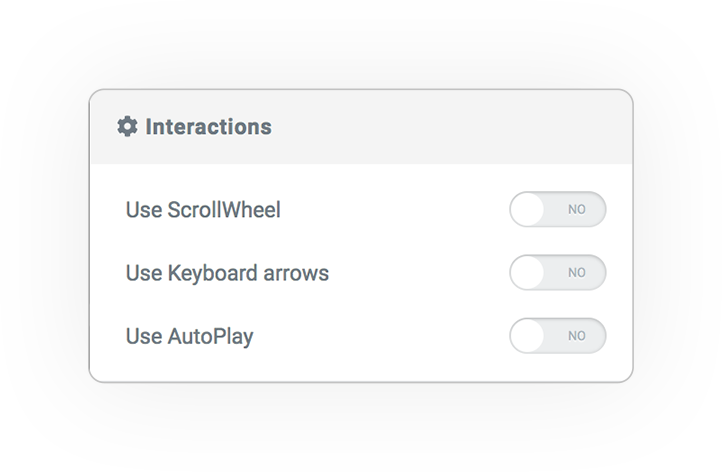 section transitions interactions