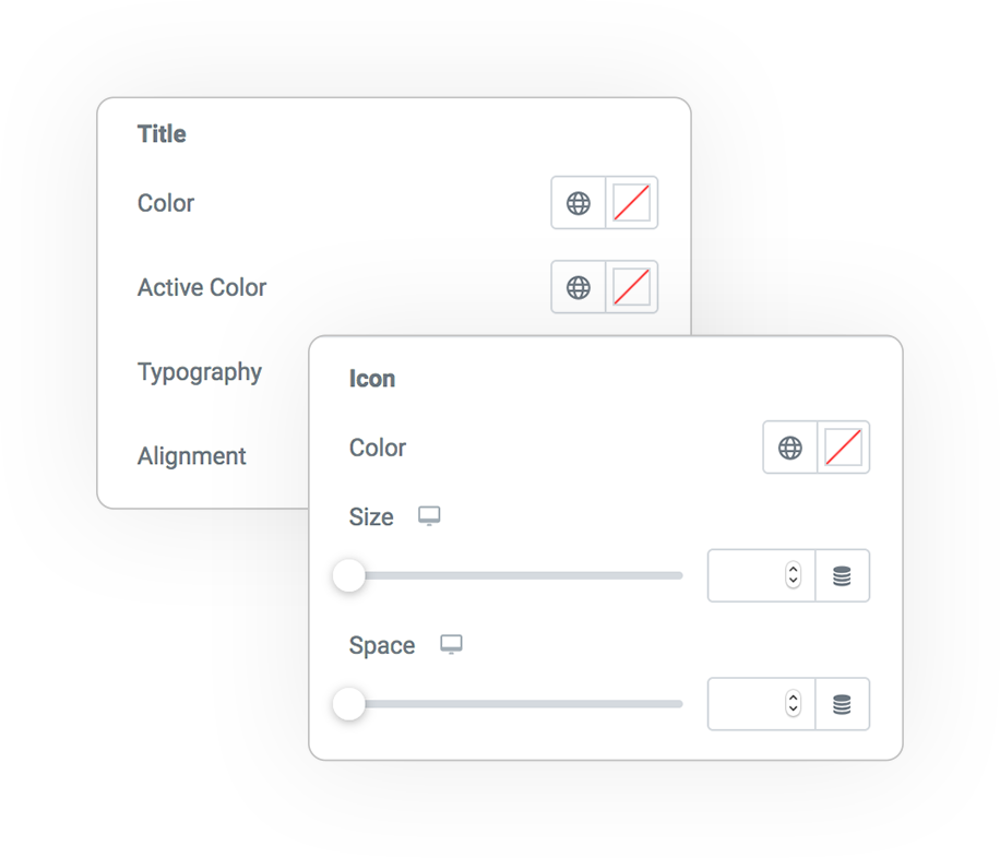 tabs sections style 2