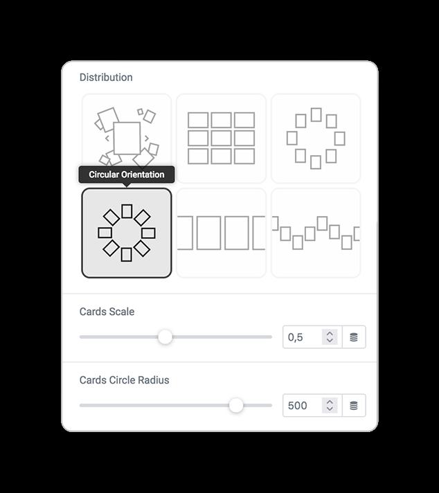 skin cards distribution circularorientation