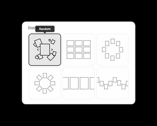 skin cards distribution random