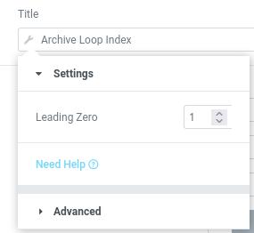elementor archive loop