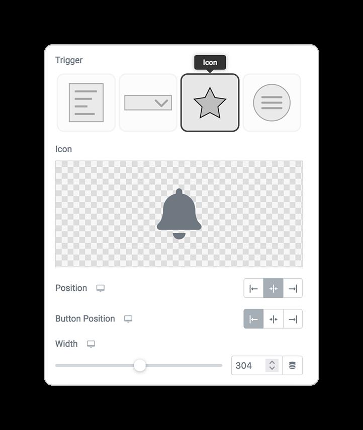 multilevelmenu trigger icon