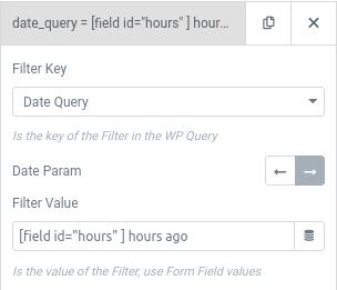 elementor user query date