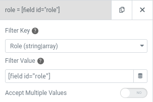 elementor user query role